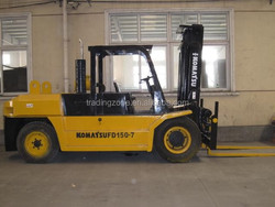 Used Japanese 15t forklift for sale , FD150-7 forklift with 2 stage mast, bestselling item