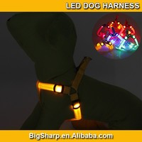 20pcs Wholesale Easy Walk LED Dog Harness Soft Nylon Flashing LED Harness for Dog 3 Sizes 8 Colors LED DH2504