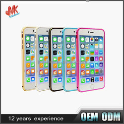 The newest 2 in 1 hybrid aluminum bumper cell phone cover with pc back shell for iphone 6