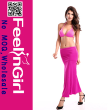 Wholesale Fast Shipping Elegant Pink Two Piece Dress Beach