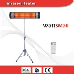 Coffee Shop Used Infrared Carbon Fiber Heater with Remote Controller/ Quartz Radiant Heater with Tube Lamp