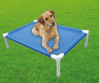 Foldable mesh metal frame dog bed/Pet beach bed