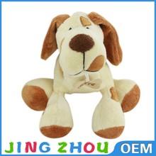 Plush Stuffed Sitting Dog with Big Ears Small Eyes