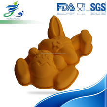 Hot Sale Rabbit Shape Cake Moulds, Silicone Cake Molds