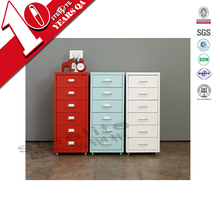 Stylish popular tall narrow 6-tier chest of drawers with wheels