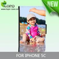 Sublimation leather flip case for iphone 5C