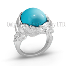 wholesale fashion 925 sterling silver ring with turquoise stone