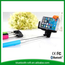 Factory price hands free bluetooth selfie stick with shutter button for mobile