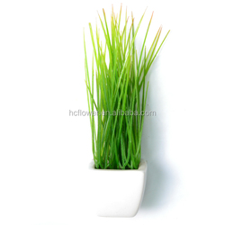 Artificial Landscaping Green Weed Grass ceramic planter