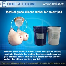 Rtv 2 liquid silicone rubber artificial breast prosthesis