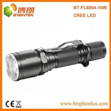 Manufacturer Wholesale 3.7v 18650 battery Operated Aluminum Cree led rechargeable super bright flashlight