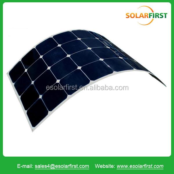 Energia solar de alta eficiência 120 w marinha flexível painel semi solar preços