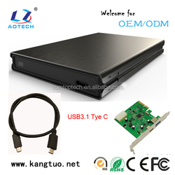 Portable USB2.0/USB3.0/USB3.1 to SATAIII hard disk drive case