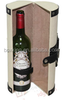 elegant classic PU leather wine box , wine carrier with one bottle