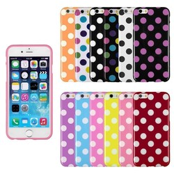 New arrival colorful untra thin polka dot cell phone case for Iphone 6/wholesale phone accessories mobile cases