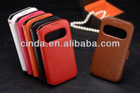 Luxury leather Flip case Cover Smart Wake View for SAMSUNG GALAXY S4 i9500