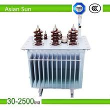 S11 10kv-0.4kv 500kva oil cooled type electrical transformer