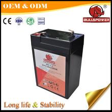 AGM Valve Regulated Sealed Lead Acid rechargeable 6V 4ah battery
