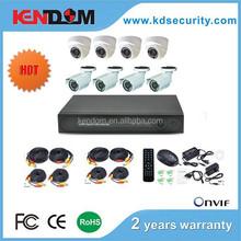 700/800/1000TVL 960h dvr 8ch kit dome camera and bullet camera 8 channel dvr kit cheap cctv camera kit