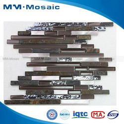 2015 hot sale glass stone mosaic wall tile MM HZH011NY