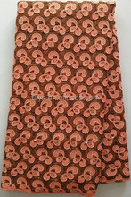 african cord lace fabric with beaded lace fabric coffee brown