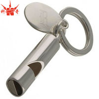 Custom Laser Metal Keychain Promotional Whistle Keychain
