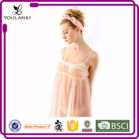 2015 Lovely Comfortable Young Girl Transparent Wholesale Camisoles