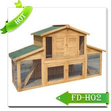 Luxury waterproof design rabbit hutch with ramp