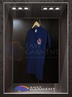 Custom Promotion Blank Collar Neck 100% cotton Short Sleeves men Tshirt