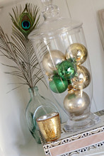 2015 haigh Quality & best selling hot product mouth blown PVC box pack family love vintage plain Christmas glass ball