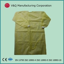 non woven disposable EN 13795 safety lab gown