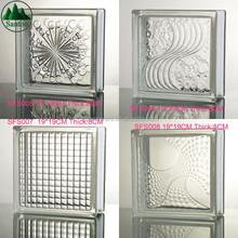 Weave Emboss Building Glass Factory Directly Custom High Transparent Hollow Glass Blocks