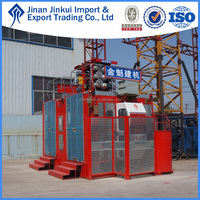 Hot sale construction lift SC200/200 wire rope hoist, rack and pinion