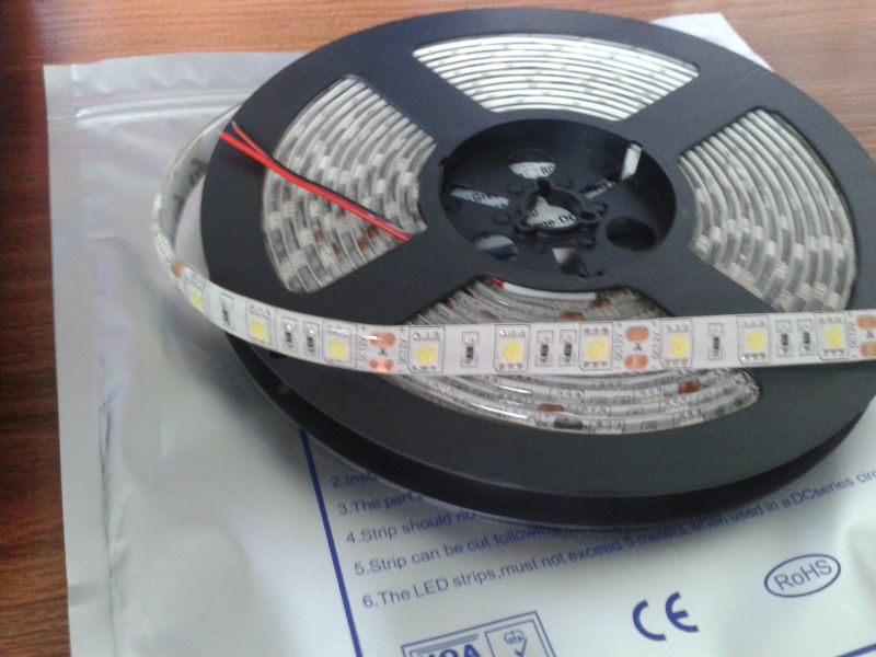 factory price led strip 5050 rgb ip68 5m/roll led Flxible Strip RGB LED strip lights