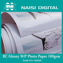 premium RC inkjet lucky glossy photo paper for waterbased pigment 180gsm