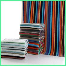100% Cotton Colorful Stripe Bath Rugs with Super Absorbent and Easy Clean 50*80CM