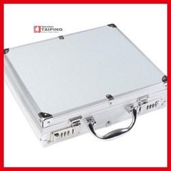 Safety Aluminum Sliver ABS Instrument Case Travel Case Personalized Attache Case