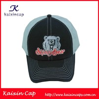 black 100 cotton fabric embroidered logo designed high quality fashion truck caps and hats