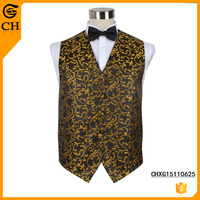 New design vest men's waistcoat polyester fabric nice paisley