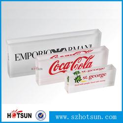 Custom printed logos clear acrylic resin