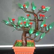 Christmas holiday lighting supplier Artificial mini tree with led lights