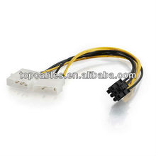 6-pin PCI Express to Two 4-pin Molex Power Adapter Cable