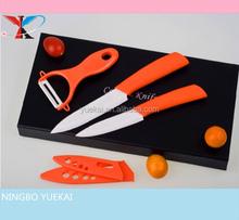 3 pcs ceramic knife set in handle gift box