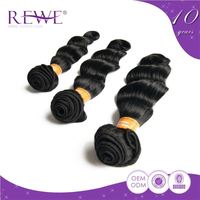 Guarantee 2 Years Loose Wave Human 100% Indian Remy Gray Hair Extension Extensions