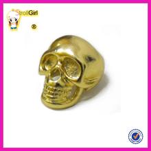 Custom skull ring cheap wholesale gold plated male skull rings