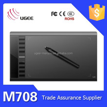Ugee M708 5080LPI 10x6 inches 2048 levels drawing picture tablet