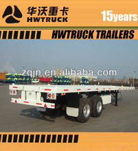 2 axle 20ft container carry flatbed truck semi tralier for sale