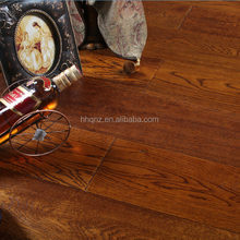 Multiply antique brushed Hand scraped oak wood flooring(Glue down)