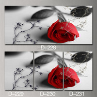 romantic rose stretched painting canvas for sale