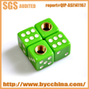 Good Looking and Cool Green Soild Dice Tire Valve Caps with High Quality and Long Using Time